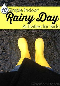 10 Simple Indoor Rainy Day Activities for Kids