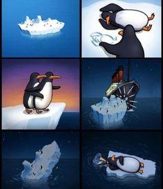 Penguin version of Titanic :)