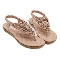 San Hojas Summer Women Sandals 2016 Fashion Bohemia Womens Shoes Flower Sandalias Femininas Casual Thong Flats Shoes Women 10 pink -- Check this awesome product by going to the link at the image.