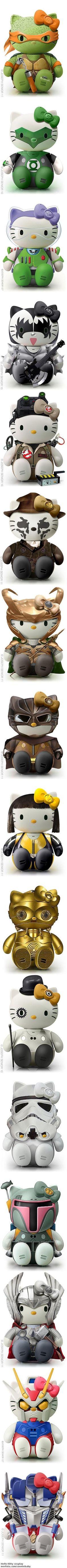 Super hero Hello Kitty by Rocio Bacino