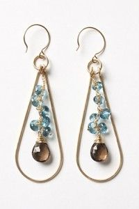 Anthropologie Cradle Earrings - looks like a DIY to me! ~ Absolutely! :)