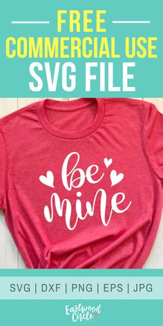 Be Mine - A Valentine SVG Cut File This SVG file works great with the Cricut and Silhouette Cameo for crafters to make DIY projects such as shirts, signs, mugs, and more! Works great with heat transfer vinyl. Valentine Shirts, Valentines Diy, Diy Valentine's Shirts, Vinyl Shirts, Diy Shirt, Silhouette Cameo Projects, Silhouette Cameo Shirt, Minions, Cricut Tutorials