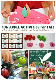 26+ Fun Fall Activities for Kids - Exploring Apples & Nature - + The Kids Co-Op Link Party at B-InspiredMama.com  #kids #autumn #kidscrafts #kbn