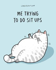 cat cartoon Funny but not funny, inspiration for me to lose the pooch Crazy Cat Lady, Crazy Cats, I Love Cats, Cute Cats, Funny Animals, Cute Animals, Cat Comics, Funny Comics, Cartoon Jokes