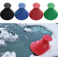 It's winter again, and one of the big concerns is that snow is getting at the car windows, and clearing off the ice is the worst. Worry no more! This Magical Car Ice Scraper and Funnel is your tool for easy ice scraping! Ice frost in the car's windshield is difficult to remove, and it takes time before it completely removes. But how about we are in a rush for work? How can we solve situations fast? This should not be a problem! This Car Ice Scraper has you covered! Get it today!