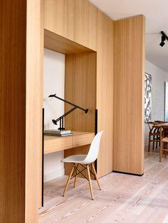 my built in desk- cabinet above  Fairbairn House | Yellowtrace