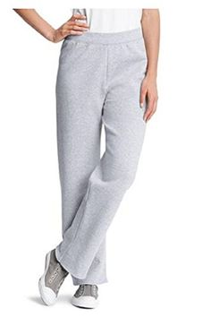 Women's Athletic Pants - Hanes Womens Fleece Pant Open Leg Sweatpants Regular S  2XL *** Find out more about the great product at the image link.