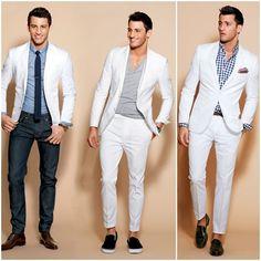 Mais ideias de terno branco...