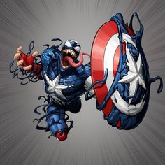 Which is your favorite venomized hero? Art by Marvel Dc, Chibi Marvel, Marvel Venom, Marvel Comics Art, Marvel Heroes, Marvel Characters, Marvel Cartoons, Marvel Funny, Venom Character