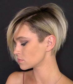 Undercut Hairstyles for Girls, The Most Popular Styles Pixie Undercut, Short Bob With Undercut, Undercut Bob Haircut, Undercut Hairstyles Women, Short Hair Undercut, Oval Face Hairstyles, Short Bob Haircuts, Girl Hairstyles, Shaved Hairstyles