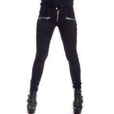 Gothic Skinny Hose mit Zippern und Akzentuierungen | VOODOOMANIACS