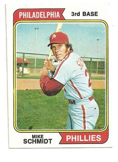 Baseball Card Show Purchase – 1974 Topps Mike Schmidt Baseball Card Phillies Baseball, Baseball Star, Funny Baseball, Baseball Uniforms, Baseball Quotes, Cardinals Baseball, Philadelphia Phillies, Pittsburgh Steelers, Dallas Cowboys