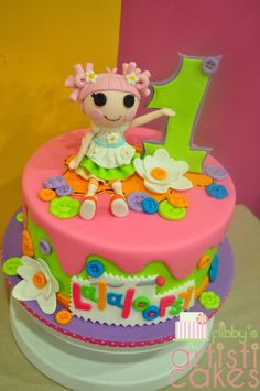 My Lala Loopsy single tier cake :)
