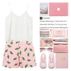 """""""&&; """"so put your rose-colored glasses on"""" + tag"""" by uss-nefelibata ❤ liked on Polyvore featuring Marie Turnor, American Retro, Monki, adidas, River Island, Mamonde and Korres"""