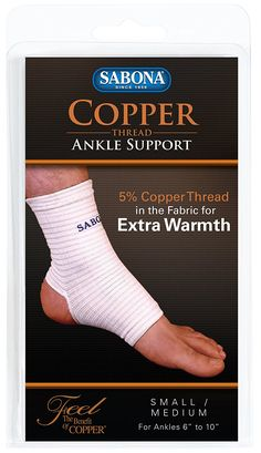 Sabona Copper Thread Ankle Support, Small/Medium *** You can find out more details at the link of the image.