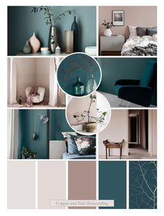 Teal Rooms, Teal Living Rooms, Living Room Color Schemes, New Living Room, Living Room Decor, Teal Bedroom Decor, Teal Master Bedroom, Teal Walls, Pink Room