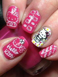 Hello Kitty nails! Love Nails b4f83b6afc6