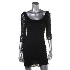 READ CAREFULLY-GUESS 4306 NEW Womens Kira Black Fringe Mini Party Clubwear Dress #Guess #Sexy #Clubwear