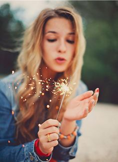 I love to use sparklers on the fourth! So much fun to twirl like a streamer!