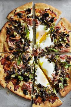 Brussels Sprouts and Pancetta Pizza #brusselssprouts #pizza #recipe