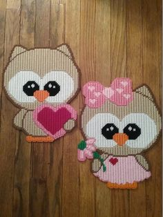 "~""Valentine Owls""~Sewn By: Donna Werner....NO PATTERN FINISHED PROJECT PHOTO ONLY"