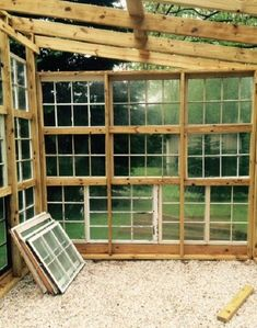 Plans to Build a shed on a weekend - greenhouse from old windows Build a Shed on a Weekend - Our plans include complete step-by-step details. If you are a first time builder trying to figure out how to build a shed, you are in the right place! Greenhouse Shed, Small Greenhouse, Greenhouse Gardening, Greenhouse Wedding, Old Window Greenhouse, Greenhouse Growing, Greenhouse Film, Pallet Greenhouse, Backyard Greenhouse