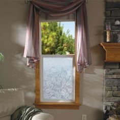 Adding beauty and privacy with Everleaf etched glass half window screen. Commercial Windows, Accent Colors For Gray, Floor Ceiling, Window Screens, Oak Stain, Window Film, Etched Glass, Light Oak, Decorating Tips