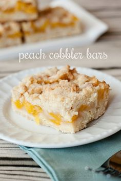 Peach Cobbler Bar Recipe on MyRecipeMagic.com