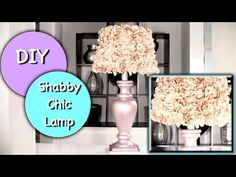 DIY Shabby Chic Lampshade Video Tutorial   The WHOot