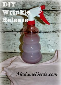 DIY Wrinkle Release http://madamedeals.com/diy-wrinkle-release-spray/ #inspireothers #homemade