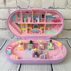 Vintage 1992 Polly Pocket Bluebird Stampin' School Playset Purple Case Complete | eBay
