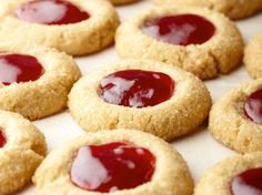 Sunny's Holiday PB and J Thumbprints from FoodNetwork.com