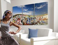 #Leinwandbild Paradies für Skater Triptychon I#Graffiti #sprayen #streetlife #skater #yolo
