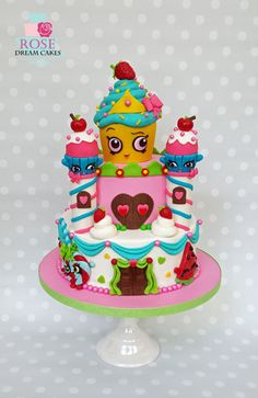 Shopkins Castle Cake