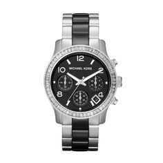 Michael Kors Runway   Ceramic Silver & Black MK5677