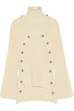 Monse | Embellished merino wool turtleneck sweater | NET-A-PORTER.COM