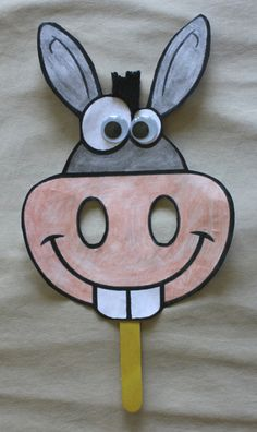 Balaam's Donkey craft mask for kids