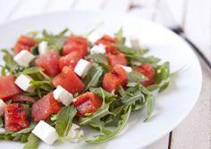 How to Grill Watermelon + a Salad Recipe. So delicious. Macheesmo.com