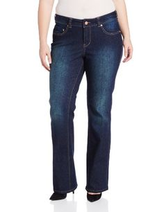 Jag Jeans Women's Plus-Size Foster Boot Cut Jean, Blue English, 22 Large