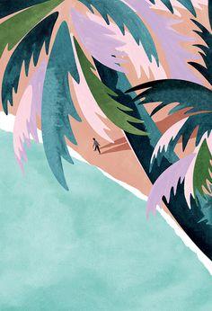 VO | Valérie Oualid : Agent d'illustrateurs | Léa Morichon | L'Odysée Sun Illustration, Landscape Illustration, Painting Inspiration, Art Inspo, Guache, Art Studios, Land Scape, Illustrators, Canvas Art