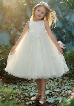 Alfred Angelo Flower Girls 718 Ivory Flower Girl Dress