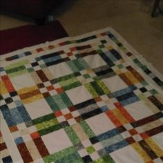 Fence Rail & Nine Patch Quilt | Quiltsby.me