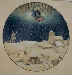 Vrouw Holle, de Efteling - Anton Pieck Dutch Artists, Famous Artists, Collage Sculpture, Anton Pieck, Crafts With Pictures, Dutch Painters, Winter Art, Viera, Beautiful Artwork