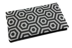 porte chéquier unisexe homme femme en tissu géométrique par Kipapee