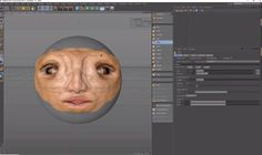 Cinema 4D Sculpting tools to sculpt up a basic character and uses the symmetrical painting features of the 4D Publish Paint Brush to paint