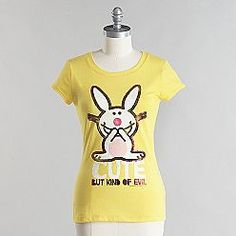 Designer Clothes, Shoes & Bags for Women Evil Bunny, Tee Shirts, Tees, Shoe Bag, My Style, Cute, Clothes, Shopping, Happy