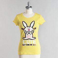 "Happy Bunny ""Cute but kind of Evil"" tee shirt. $9.99"