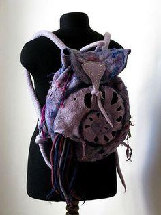"""Купить рюкзак """"НАУТИЛУС"""" - шерсть, войлок, рюкзак, Сумки, шерсть, войлок, металлическая фурнитура"""
