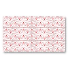 ART DECO PATTERN in RED Customizable Personal Business Card Template