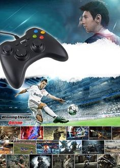 Black USB Wired Game Controller Joypad Joystick For Xbox for 360